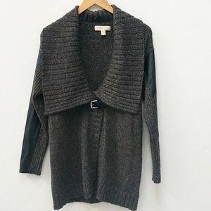 MICHAEL KORS GRAY COWL NECK SWEATER - L